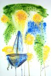 Acrylic and water color on paper / Water Dance Series